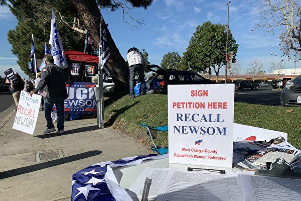 簽名人數持續增加 罷免加州州長徵簽破百萬