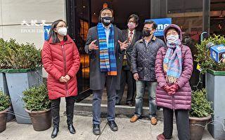 楊安澤支持疫情受創小商家 獲紐約市議員陳倩雯背書