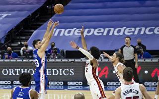 NBA馬提亞致勝三分球 76人延長賽滅火