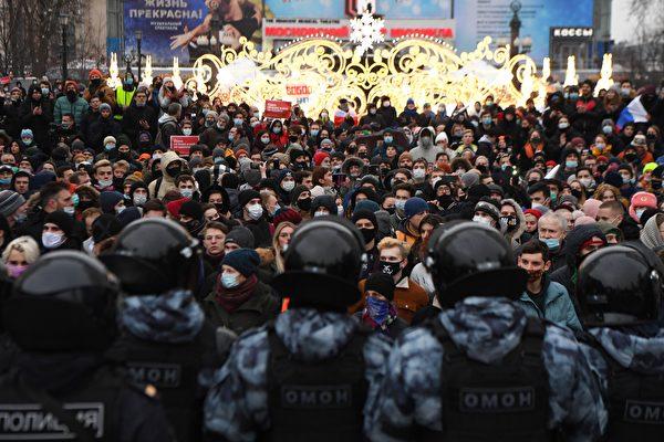 俄羅斯反對派全國抗議 逾3400人被抓