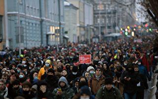 组图:俄罗斯反对派领袖被捕 民众上街抗议