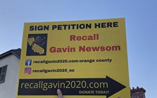 罢免纽森运动逼近临界点 签名超过120万