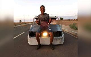 沒錢買車?17歲男孩用廢金屬造新穎汽車