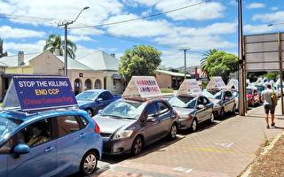 解体中共真相车队首现南澳 民众注目赞赏