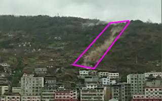 四川乐山峨边县巨石滚落砸毁民房 1死3伤
