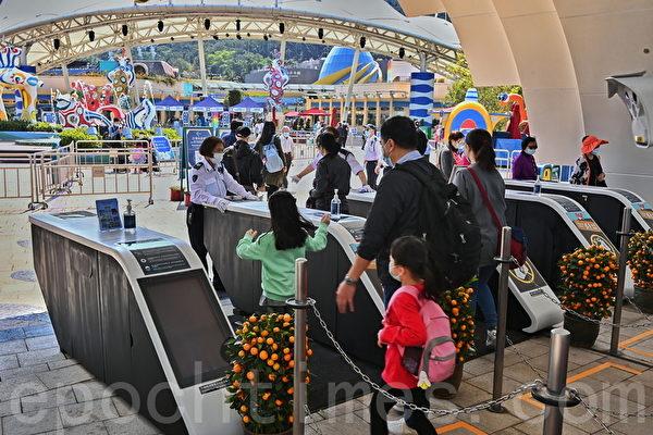 組圖:香港海洋公園重開 須使用安心出行APP