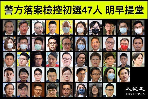 港泛民47人遭起訴 台陸委會批中共蠻橫打壓