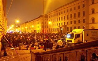 德國民眾慕尼黑和平抗議疫情封鎖