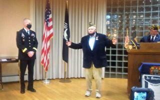 美国百岁海军老兵 75载后获三枚二战勋章