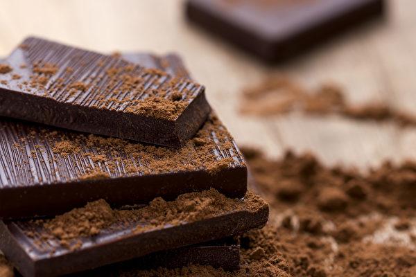 黑巧克力護心、降血壓又能吃出好心情,選擇純度的越高越好。(Shutterstock)