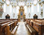 组图:德国维斯朝圣教堂 洛可可式完美杰作
