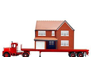 """真的""""搬家"""" 美国百年房屋被连根拔起迁址"""