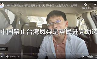 江苏小哥:中共免费帮台湾凤梨打广告