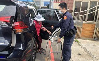 老妇跌坐路旁无法起身  员警查询身份协助返家
