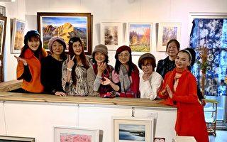 「心畫朵朵開」湖畔畫會8藝術家聯展