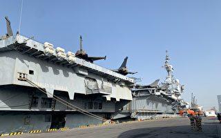 组图:戴高乐号航空母舰停靠于阿布扎比