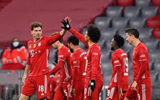 德甲国家德比 拜仁逆转多特 莱万打进三球