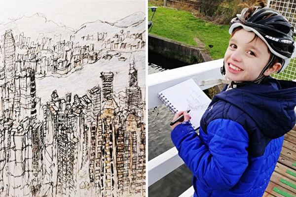 英11岁自闭症男孩 看一眼就能画出街景图
