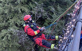 一夫妇惊遇拦路熊   北岸消防队成功施救