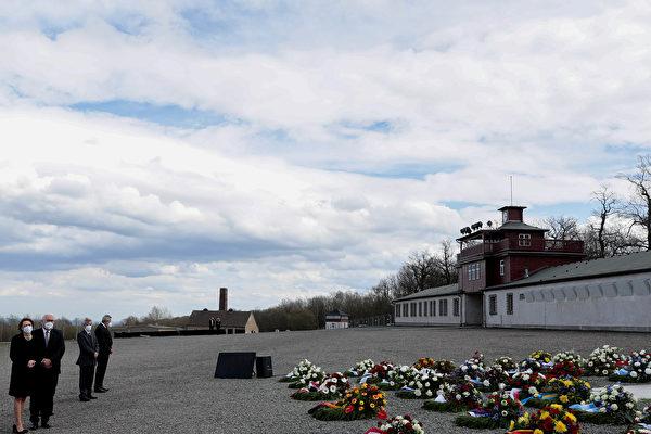组图:德国总统出席集中营解放76周年活动