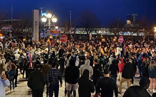 蒙特利爾連續兩天反宵禁抗議 出現暴力騷亂