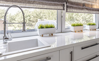 Closeup,Shot,Of,A,White,Countertop,In,A,Modern,Kitchen