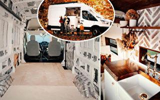 為旅行 父母把廂式貨車改成「歐洲小屋」