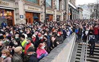 组图:纳瓦尔尼支持者抗议 俄国约1500人被抓