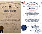 美麻州参众两院颁发褒奖 祝贺世界法轮大法日