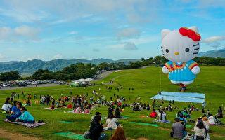 KITTY熱氣球亮相 鹿野高台變童話世界