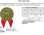 佛州三市宣布法轮大法日 鼓励居民实践真善忍