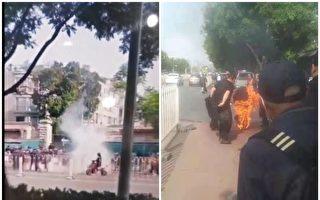 北京國家信訪局門口一男子汽油澆身自焚