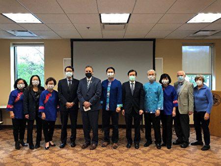 台湾驻芝加哥办事处处长姜森参加公益活动