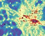 宇宙暗物質分布圖出爐 揭星系間存無形橋梁