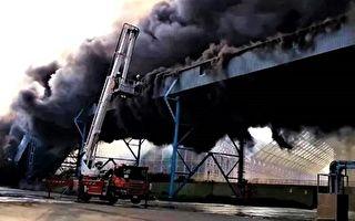 中火輸煤塔濃煙大火  台電:不影響供電