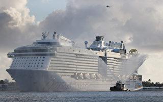 组图:海洋奥德赛号游轮抵达佛州劳德代尔堡