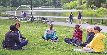 纽约中央公园小偷抢手机 法轮功学员见义勇为