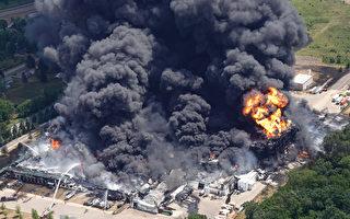 伊利諾伊州工廠化學品火災 居民疏散