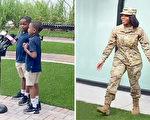 空軍媽媽被派駐歐洲半年 祕密回家給兒子驚喜