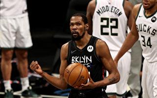 NBA杜蘭特一夫當關 籃網逆轉雄鹿聽牌