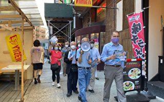 紐約市曼哈頓區長候選人李文再訪華埠商家