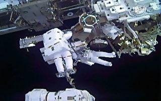 美欧宇航员太空行走 为太空站安装太阳能板