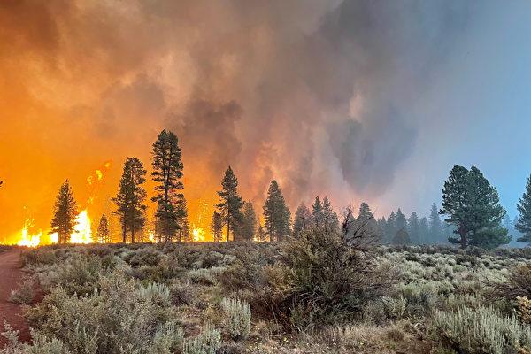 美俄勒冈野火蔓延逾22万英亩 两千人紧急疏散
