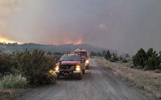 俄勒冈边境现火积云助长火势 加州派员参与扑灭