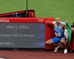 奥运男子百米决赛 意大利飞人雅各布斯封王