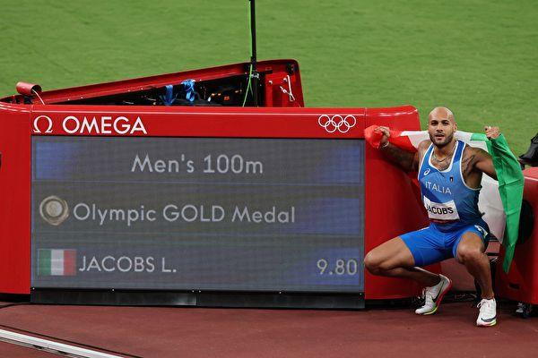 奧運男子百米決賽 意大利飛人雅各布斯封王