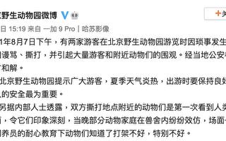 遊客打群架 北京動物園批:教壞動物