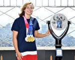 組圖:奪4面奧運獎牌 名將萊德基訪帝國大廈