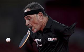 用口咬乒乓球拍 埃及无臂男子参加东京帕运