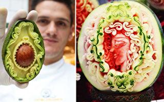 组图:世界冠军雕刻师将蔬果变成精美艺术品
